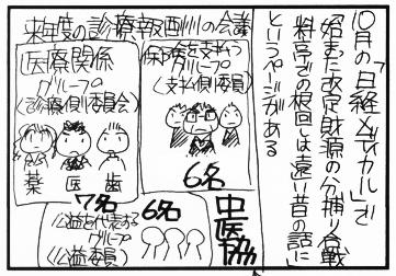 10月から本格化!診療報酬の財源 分捕り合戦!!