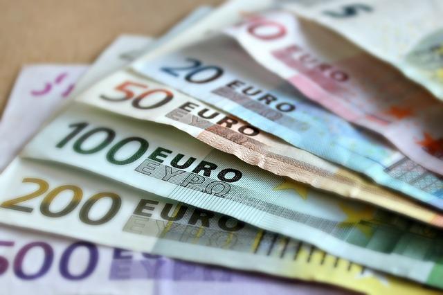 お金画像ユーロ