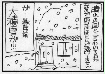 大大大積雪の日